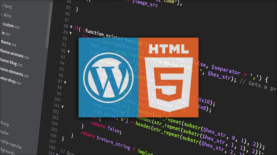 wordpress vs html5